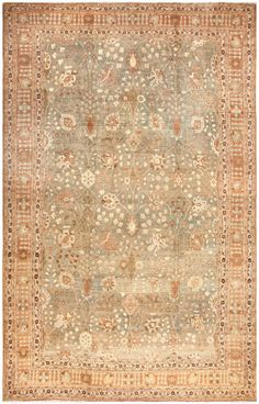 Antique Persian Tabriz Rug 50235 - By Nazmiyal