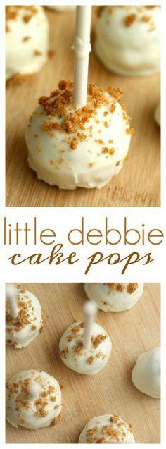 Little Debbie Cake Pops - Cakes - Kuchen Rezepte Köstliche Desserts, Delicious Desserts, Dessert Recipes, Easter Recipes, Oatmeal Cream Pies, Cake Bites, Cake Mix Recipes, Easy, Savoury Cake