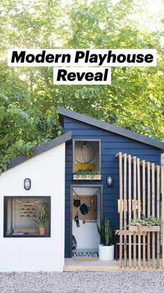 Modern Playhouse, Play Houses, Outdoor Spaces, Outdoor Decor, Bedroom For Girls Kids, Garden Inspiration, Future House, Shed, Cottage