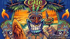 tiki man Archives - Flyland Designs, Freelance Illustration and Graphic Design by Brian Allen - Tiki Hawaii, Hawaiian Tiki, Big Kahuna Burger, Tiki Man, Tiki Tiki, Tiki Tattoo, Cool Car Drawings, Vintage Tiki, Beautiful Fantasy Art