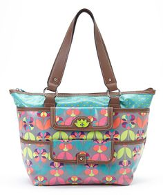 Look at this Floral Dots Pocket Shopper Tote on #zulily today!