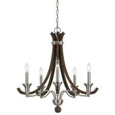 Buy the Cal Lighting Brushed Steel Direct. Shop for the Cal Lighting Brushed Steel Parkside 5 Light Wide Single Tier Candle Style Chandelier and save. Kitchen Chandelier, Farmhouse Chandelier, Candle Chandelier, Candelabra, Chandelier Lighting, Crystal Chandeliers, Ceiling Fan, Ceiling Lights, Animales