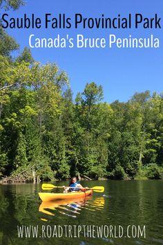 Head up Canada's Bruce Peninsula on the Georgian Bay: Sauble Falls Provincial Park