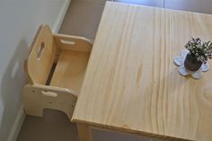 How to make a Montessori weaning table