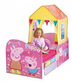 CAMA INFANTIL PEPPA PIG DE MADERA. 452PIP
