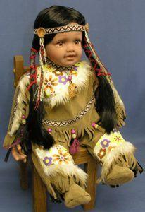 indian porcelain dolls | native american indian dolls