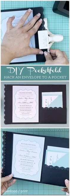 How to hack an envelope into a pocket invitation. Such a neat trick!