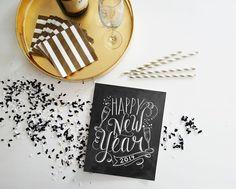 DIY - Last Minute New Years Decor | Digital Printable