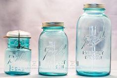 Mason Jars Antique. Verdaderas piezas de museo con más de 90 años.