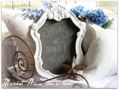 How to make this Spring Chalk board