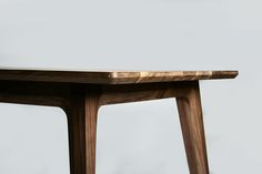 Walnut table design by Luis Luna for Namuh