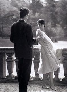 """Delphine Seyrig , photos de Georges Pierre lors du tournage de """"l'année dernière à Marienbad"""" ,1960"""