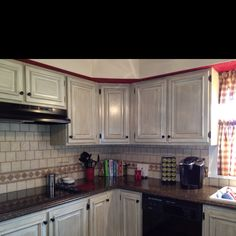 Refurbished Cabinets On Pinterest Kitchen Reno Maple Cabinets And