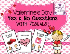 Valentine's Day Yes No Questions - perfect for speech and language therapy