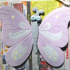 Butterfly Glazed Ceramic Art Sculpture