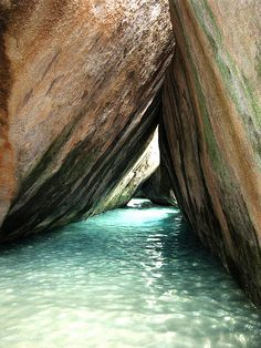 The Baths, Virgin Gorda, BVI  One of the top ten place for scuba diving...old ship and nice eels with large teeth
