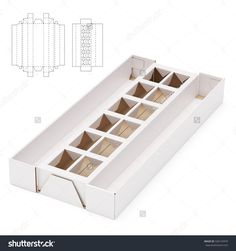 Storage Shelf Box with Die Line Template - Shutterstock Premier Packaging Dielines, Egg Packaging, Diy Gift Box, Diy Box, Cajas Silhouette Cameo, Origami Pencil Holder, Paper Box Template, Printable Box, Packing Boxes