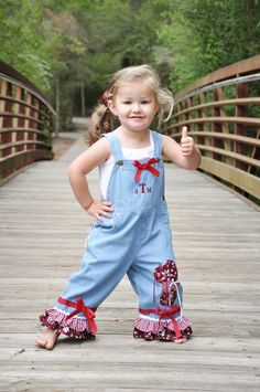 Aggie overalls for little girls and lets just be honest my kid NEEDS this!