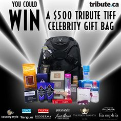 Enter for you chance to win a fabulous celebrity gift bag valued at over $500.