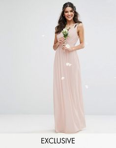 TFNC Wrap Front Maxi Dress with Embellishment $38