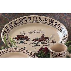 Westward Ho Christmas Large Oval Platter