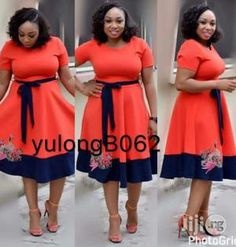Simple nd lovely gown with belt in different sizes,call for urs now