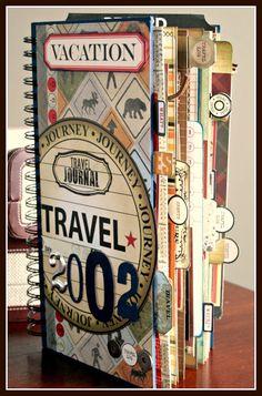 #papercraft #scrapbook #minialbum:  CHerInspirations: My Husbands' Great Outdoors Adventure Travel Album