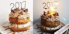 Deze feestaart is alles wat je in een taart zoekt. Cake, zoute karamel, Toblerone en Monchou. Een knaller van een taart voor een mooi 2017! Happy new...