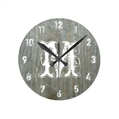 >>>The best place          Barn Wood Inspired Monogram Clock           Barn Wood Inspired Monogram Clock online after you search a lot for where to buyShopping          Barn Wood Inspired Monogram Clock please follow the link to see fully reviews...Cleck Hot Deals >>> http://www.zazzle.com/barn_wood_inspired_monogram_clock-256427013040742189?rf=238627982471231924&zbar=1&tc=terrest