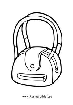 Tasche ausmalbild  diverse_malvorlagen/beliebt/bucher_05.JPG | Ausmalbilder ...