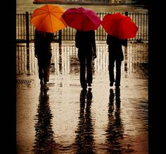 bright umbrellas make rainy days better