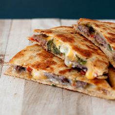 Jalepeno Popper Steak Quesadilla!