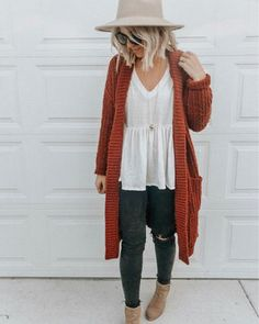 fall denim outfit with cardigan - puniceus [Outfits und Mode] - Classy Outfits, Casual Outfits, Comfortable Fall Outfits, Fall Dress Outfits, Feminine Fall Outfits, Bohemian Fall Outfits, Bohemian Fall Fashion, Boho Work Outfit, Casual Wear