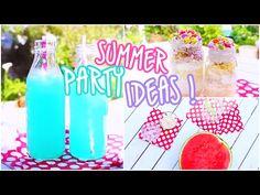 DIY Outdoor Retro Summer Party! Treats, Decor, Outfits, Recipes ++ more ♡ - YouTube