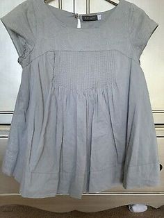 Mint Velvet 12, Pale Blue, Top With Embroidery And Pleating Detail. VGC | eBay Summer Tops Uk, Short Sleeve Blouse, Short Sleeve Dresses, Velvet Shorts, Blue Tops, Ruffle Blouse, Mint, Embroidery, Summer Dresses
