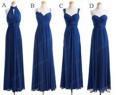 royal blue prom dress chiffon prom dress affordable por sofitdress
