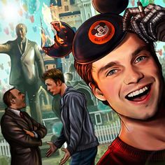 The Life of Bucky Barnes: I take it all back. Disneyland is AWESOME! I didn't have so much fun since that hostage situation in Uruguay. Apparently, it IS forbidden to set your hat on fire and now, the management is threatening to ban us for life. Can I burn the second ear to celebrate this?