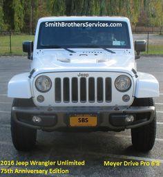 2016 Wrangler Anniversary Edition with Rubicon front bumper. 2016 Jeep Wrangler, Jeep Wrangler Unlimited, Snow Plow, Rubicon, Anniversary