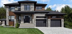 Creations page 3 Dream House Exterior, Dream House Plans, Exterior House Colors, House Floor Plans, Dream Home Design, Modern House Design, Style At Home, House Elevation, Facade House