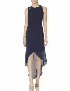 Lace Back Hi-Low Maxi Dress from THELIMITED.com #TheLimited