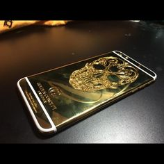 iPhone 6/6plus 24kgold skull housing. Custom made. Golden Concept. 24kgold skull housing. For iPhone 6/6plus Iphone Accessories Phone Cases