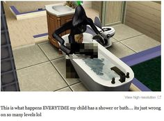 This haunted child. | 29 Times The Sims Went Horribly, Hilariously Wrong
