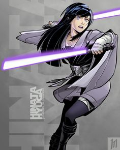 "Another ""Naruto X Star wars"" crossover. Hinata Hyuga as a dual saber Jedi Sentinel I decided to stick with her original colors this time, cause they were the ones that suit her the most, in my ""non..."