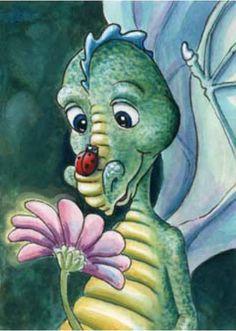 Friendly, cute dragons by artist Lisa Victoria Fantasy Kunst, Fantasy Art, Tattoo Painting, Tiny Dragon, Cartoon Dragon, Dragon Pictures, Cute Dragons, Dragon Egg, Fantasy Dragon