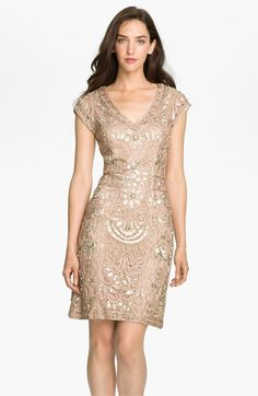 Sue Wong Beaded Soutache Sheath Dress available at #Nordstrom
