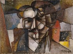 Collection Online | Albert Gleizes. Head in a Landscape (Tête dans un paysage). 1912–13 - Guggenheim Museum