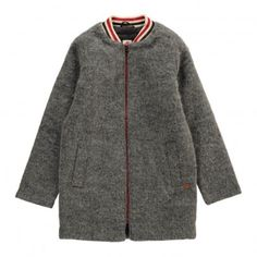 Manteau Long Façon Teddy Gris  American Outfitters