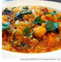 quinoa & vegetable stew.