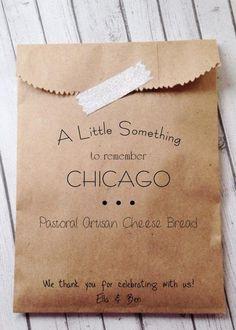 CHICAGO WEDDING! Specialty Wedding Favor Bags Unique Wedding by DetailsonDemand