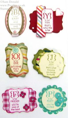 POOTLES Convention Card Candy Swaps 7 Stampin' Up!